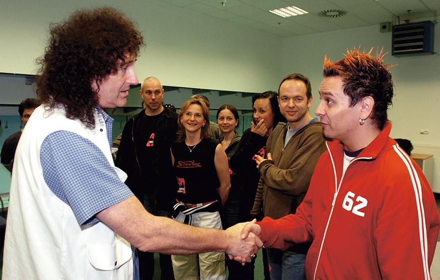 Jiří Ševčík a Brian May