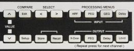 Electro-Voice DC-One - ovládání