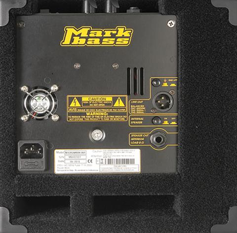 MarkBass Micromark801 -zadní panel