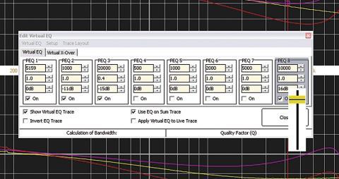 SATlive -nastavení filtrů Virtuálního EQ